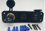 联想汽车车载充电器HC12迷你金属车充快充插头转换器双USB口点烟器一拖二苹果安卓手机平板通用